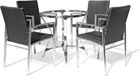 Conjunto Mesa de Jantar e 4 Cadeiras Lumina - Área Externa