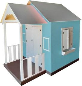 Casinha de Brinquedo com Varanda Azul Tiffany - Criança Feliz