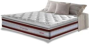 Colchão Casal de Molas Ensacadas D33 com Pillow TOP Cama inBox Select 138x188x32 Vinho