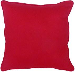 Capa Almofada em Algodão Liso Vermelho 45x45cm com Viés