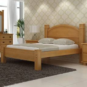 Cama de Casal Queen Itália Madeira Maciça Bedroom -
