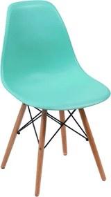 Cadeira Eiffel DSW Eames Sem Braço Pés Madeira Tiffany