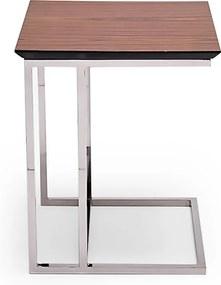 Mesa de Encaixe Paolo Aço Inox e Tampo Laminado Design Exclusivo by Studio Artesian