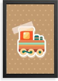 Quadro Love Decor Decorativo Infantil Colagem Trem