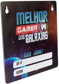 Placa Senha do Wifi das Galáxias