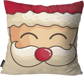 Capa para Almofada Mdecor De Natal Rosto Multicolorido