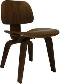 Poltrona Lounge Chair Nogueira Wood 69cm em Madeira