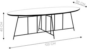 Mesa de Centro Tema 120cm Aço Bronze/Imbuia - Gran Belo