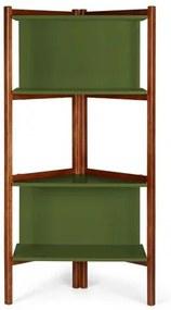 Estante Easy Cor Cacau Com Verde Escuro - 29000 Sun House