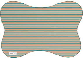 Tapete PET Mdecore Listrado Colorido46x33cm