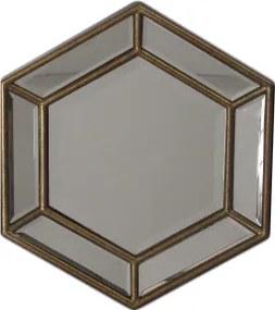 Espelho Clássico Lapidado Folheado a Ouro - 35x40cm