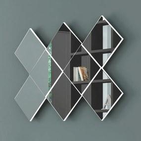 Espelho Losango 3d 127 cm Tb83 Off White - Dalla Costa