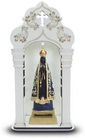 Capela 34 cm Com Imagem Nossa Senhora Aparecida Inquebrável