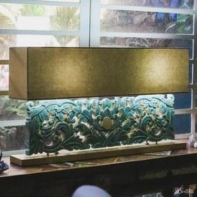 Luminária Floral Blue Antik 100cm - Bali