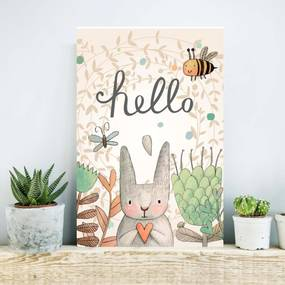 Placa Decorativa StickDecor Hello