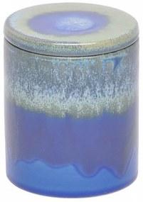 Pote Decorativo em Cerâmica Azul Tie Dye P