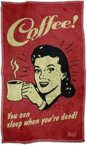 Pano de Prato Coffee You can sleep when you are dead Geek10 - Vermelho