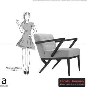 Poltrona Renata Fixa C/ Assento e Encosto Estofados Diversas Cores