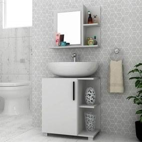 Conjunto Banheiro Savio C/ Espelho Branco