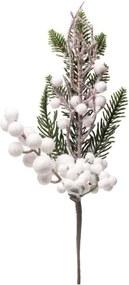 Folha Para Árvore Natal Decoração Natal 30Cm Cor Branco