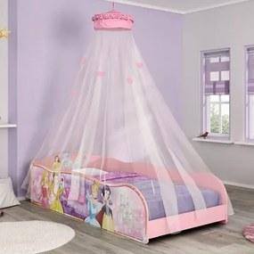 Cama Infantil Princesas Disney Plus Dossel Teto Rosa - Pura Magia