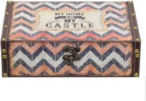 Caixa Decorativa Grande - My Home Is My Castle - Mart
