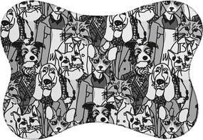 Tapete PET Mdecore Animais Preto e Branco 46x33cm
