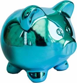 Cofre cerÂmica metalizado - pig azul