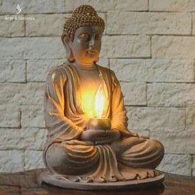 Luminária Buda Zen em Marmorite
