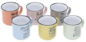Jogo 6 Canecas De Café De Porcelana Coloridas Motive 130ml 26096 Bon Gourmet