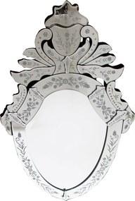 Espelho Veneziano Clássico Luis XV com Peças Bisotados - 80x50cm