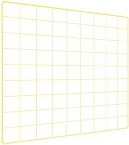 Memory Board Quadro de Fotos Amarelo - 45cm x 45cm + 6 Mini Prendedores