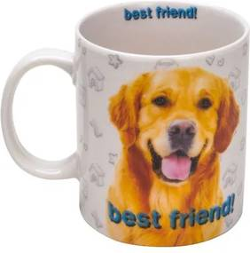 Caneca Porcelana Golden Retriever 330 Ml 26609 Bon Gourmet