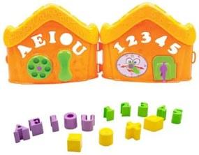 Casinha Didática ABC Laranja 198F - Bs Toys