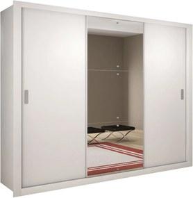 Roupeiro Veneza Luxo 3 Portas Branco Rufato Móveis
