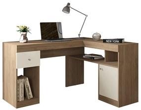 Mesa para Computador Londres C02 Buriti/Off White - ADJ DECOR