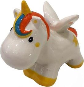 Cofre Unicornio Com Asas Ceramica Decoracao