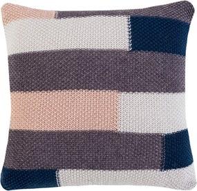 Almofada Lola Home Tricot Plus Bricks Bege/Azul