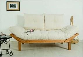 Sofá Cama Futon com Almofadas Cru 1854.2 Country Comfort Jatobá - Mão & Formão