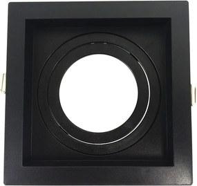 Embutido AR70 Quadrado Recuado Direcional Preto GU10 - Save Energy - SE-330.1052