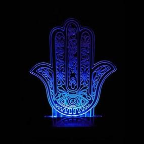 Luminária Hamsa em Acrílico com LED (28cm)