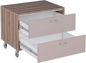 Gabinete para Banheiro com Rodízio 60cm MDF Peri Tamarindo com Nude 60,1x40x43,1cm - Cozimax - Cozimax