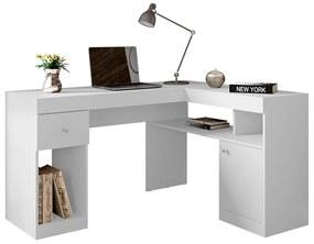 Escrivaninha em L 0666 Branco - Caemmun