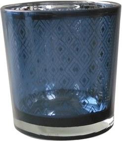 Castiçal em Vidro Azul Bright Colors Urban Home