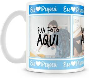 Caneca Personalizada Eu Amo Papai (3 Fotos)