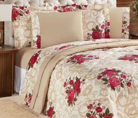 Roupa de Cama King Murano 150 Fios 04 Peças - Bouquet Vermelho
