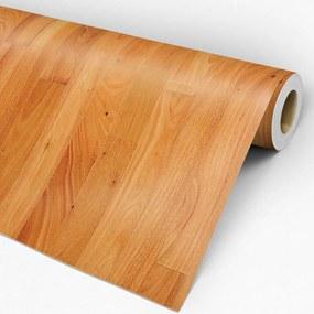 Papel de parede adesivo madeira amarelada
