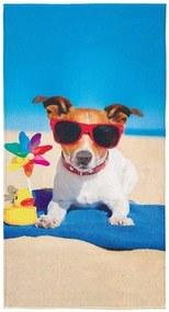 Toalha de Praia Aveludada Transfer Summer Dog