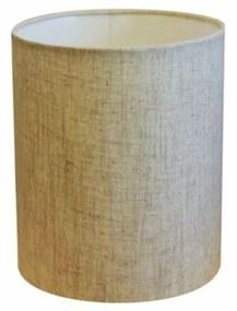Cúpula em Tecido Cilindrica Abajur Luminária Cp-2009 13x15cm Rustico Bege