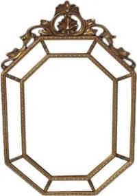 Espelho Clássico Vitoriano Folheado a Ouro - 143x90cm